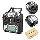 HOBBYMATE Flysky RC FS-i6X Radio Transmitter Remote Controller Without Receiver 6-10 Channels (Default 6 Channel) for FPV Drone Quadcopter, Rc Airplane, Rc Helicopter