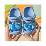 Zapatillas para niños Summer Non-Slip Fund Soft Dibujos animados Infantil Chicos y niñas Bebé Agujeros-cielo azul_160 (15.5cm) Adecuado para pies 14,5cm