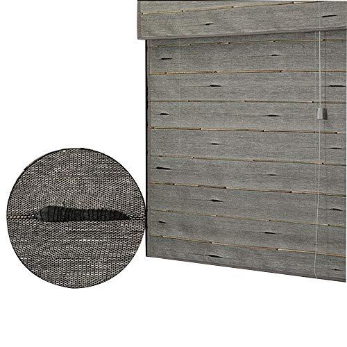 JIAYUAN Bamboe Rolgordijnen Roll Up Raam Blinds Romeinse Tinten Rietrolgordijnen, Zonwering/Ademend/Natuurlijke Rolluiken, voor Binnen, Buiten, Aangepaste jaloezieën