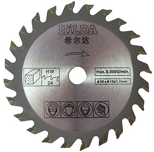 Hoja de sierra circular para Skil 5330AB compacta Mini sierra circular de inmersión 85 mm de diámetro x 10 mm de diámetro x 24 T hoja de corte de madera