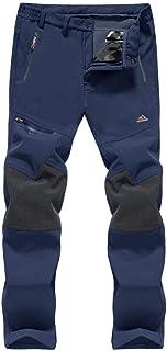 BIYLACLESEN Men's Outdoor Hiking Pants Ski Pants Zipper Pockets