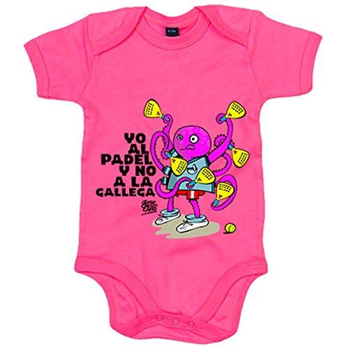 Body bebé yo al padel y no a la gallega - Rosa, 12-18 meses