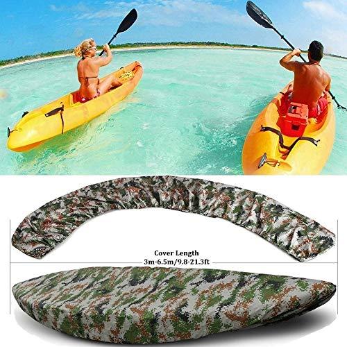Kayak Accesorios Cubierta, Al Aire Libre Respirable Cubierta De Almacenamiento, A Prueba Agua Anti-UV Bloqueador Solar Universal Shield Encajan 6.8-19.6Ft Canoa,Fit 5.1*5.5m/16.7*18.0ft Kayak