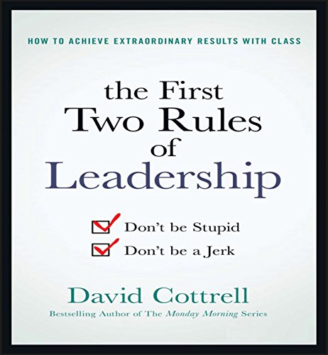 The First Two Rules of Leadership audiobook cover art