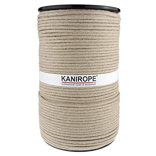 Kanirope® Hanfseil Seil Hanf HEMPBRAID 4mm 100m 8-fach geflochten
