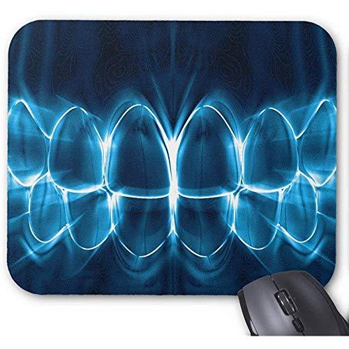 Zahnarzt-blaues glühendes Zahn-Lächeln-Spiel Mousepad 30X25CM