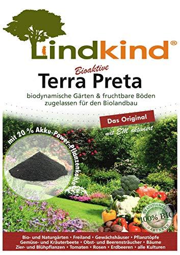 Lindkind Terra Preta 40 Liter (2 Säcke) biodynamisch gärtnern, fruchtbare Böden, zugelassen für den Biolandbau Erde Dünger