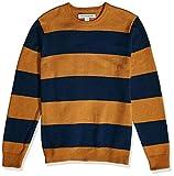 Amazon Essentials Men's Midweight Crewneck Sweater, Mustard/Navy, XX-Large