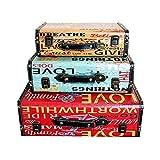 LiChaoWen Maleta Decorativa Maleta Juego De 3 Box Antigüedades Índice Puntales De Disparo For El Almacenamiento Y Decoración Organizador (Color, Size : 3 PCS)