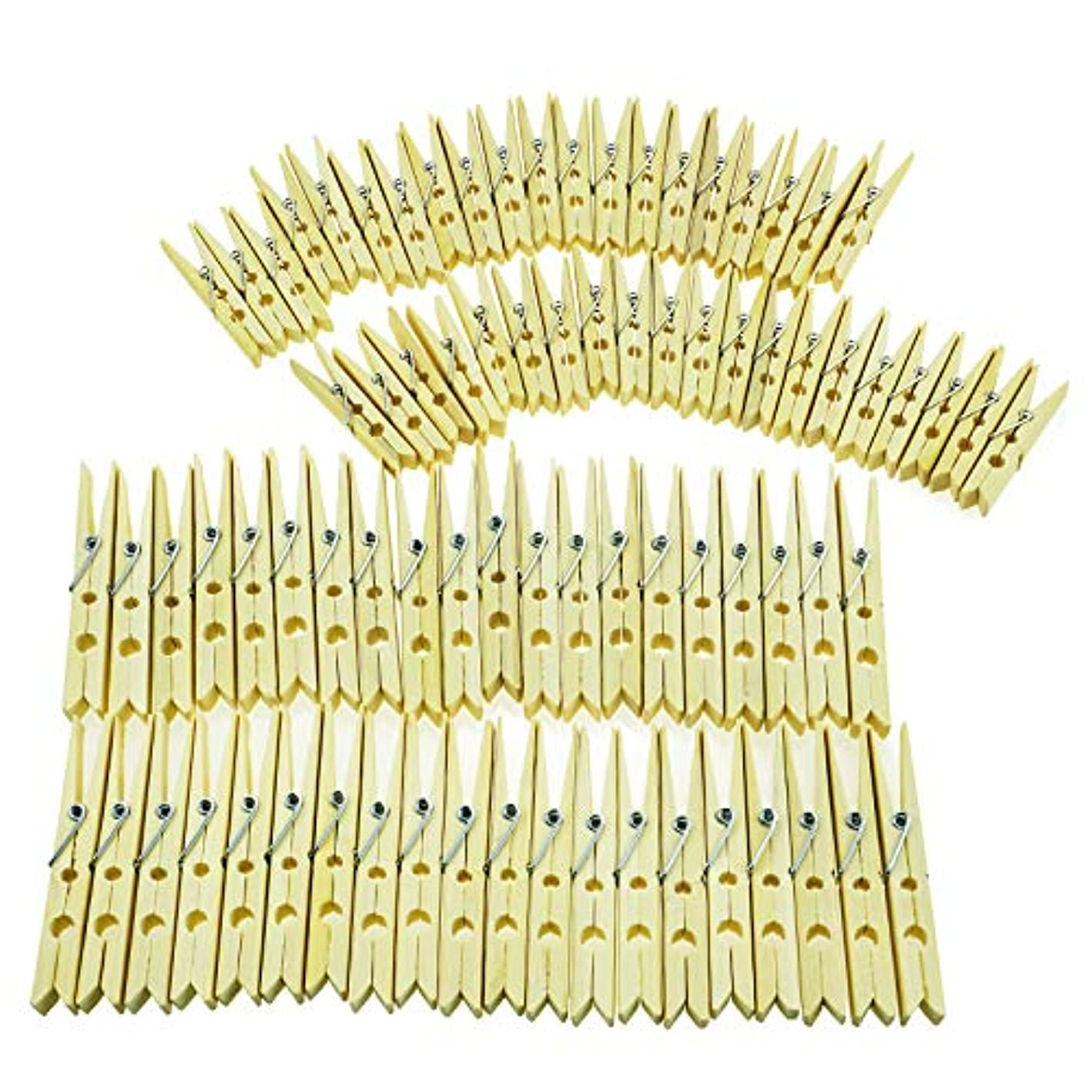 neeyeetag Natural Bamboo Heavy Duty Clothes Pins/Pegs/Clips, Large Size 3.74