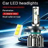 Ampoules H4 LED - Phares pour Voiture, 7200LM 60W CSP chips 6000K kit de conversion...