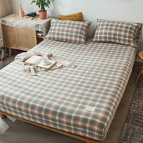 haiba Spannbettlaken - Spannbetttuch Basic - Matratzenbezug für Boxspringbett-Topper - Bettlaken aus Baumwolle 150x200cm+25cm