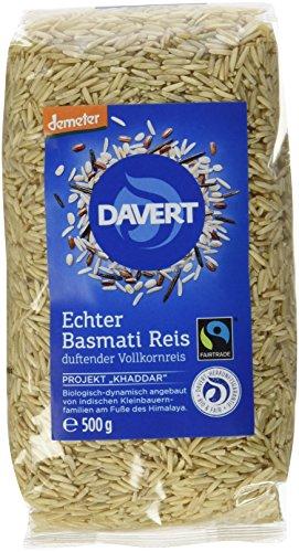 Davert Echter Basmati Reis braun, 2er Pack (2 x 500 g) - Bio