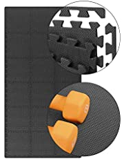 Extra stark, professionell skyddsmatta, tillverkad av EVA-skum, med kanter för tillförlitligt golvskydd för sportutrustning, gym, källare och kontor. 1 matta som mäter 32 x 32 x 1 cm tjock.