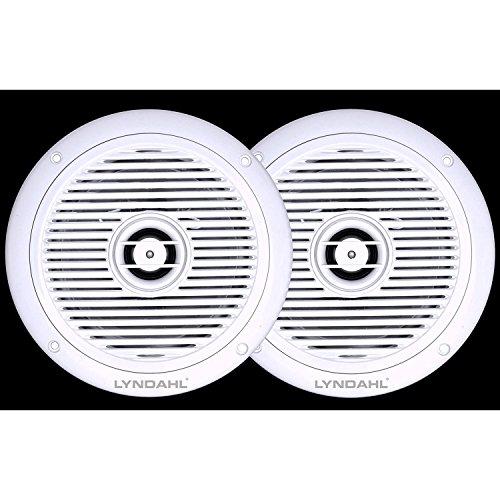 Lyndahl CS180IP 2-Wege Deckenlautsprecher Einbaulautsprecher für Badezimmer und Dusche geeignet durch Schutzklasse IP44 Farbe weiß Deckenlautsprecherpaar Decken-Einbaulautsprecher für Feuchtraum Bad