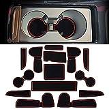 YEE PIN Alfombrillas de goma Ceed/XCeed, accesorios interiores, alfombrillas antideslizantes para consola central, soporte para bebidas, alfombrillas antideslizantes, equipamiento interior