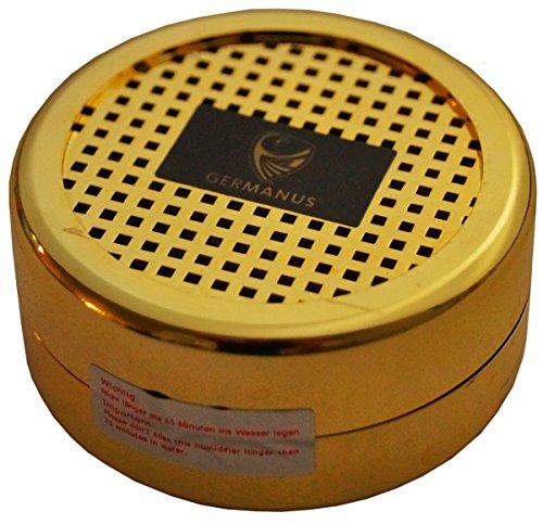 GERMANUS Humidor Befeuchter Gold für Zigarren, Tabak, Pfeifentabak und Zigarrettentabak