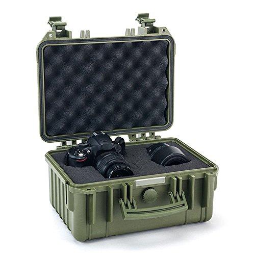 Maleta rígida con Espuma Protectora Mediana (32,6 cm. de Largo x 26,6 cm. de Ancho x 18 cm. de Altura) (Verde Militar)