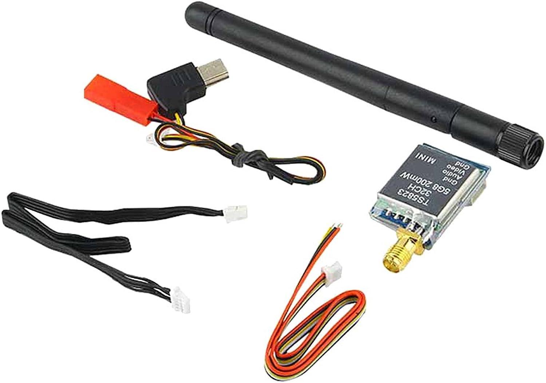 MagiDeal TS5823 32CH 200mW Image Transmitter 1000TVL NTSC   PAL Camera for FPV Mini RC Drone
