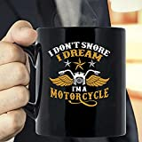 MG global Regalo del día del padre - Regalo para el día del padre - I Don't Snore I Dream I'm A Motorcycle Shirt Biker Dad...