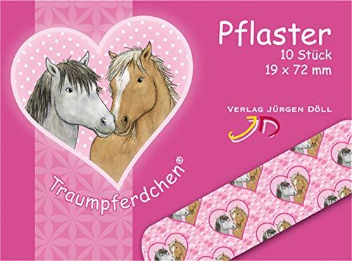 Neu 2019: 10 Kinder-Pflaster * TRAUMPFERDCHEN mit Herz * mit 19x72mm vom Döll-Verlag   20286   Rosa Pink Pferde Pony Geburtstag Kindergeburtstag Mitgebsel