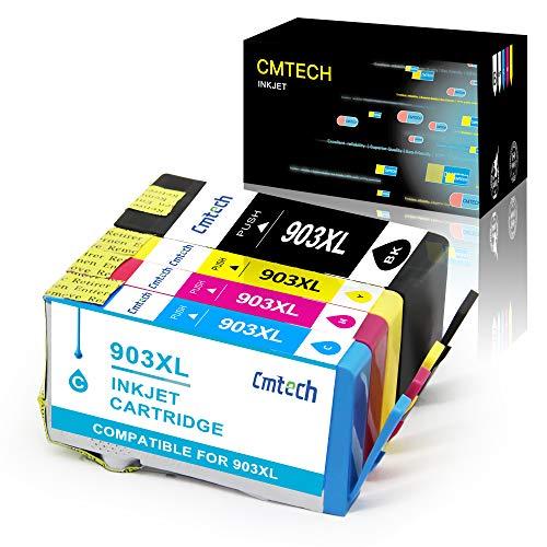 CMTECH Chip de Actualización 903 903XL Multipack Compatible para HP 903 903XL Cartucho de Tinta para HP Officejet Pro 6950 Officejet Pro 6960 Officejet Pro 6970 All-in-One(Negro,Cian,Magenta,Amarillo)