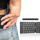Tastiera Bluetooth pieghevole, tastiera doppia, tastiera Bluetooth portatile mini tascabile wireless per smartphone tablet iOS Android Windows PC