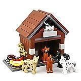 Model Building Blocks City Farm Animals Building Blocks for Kids MOC Bricks Parts Dog House Puppy Toys for Children Boy Girl DIY Gifts