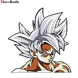 RSZHHL Sticker de Carro Fc350 Goku Ultra Instinct Lindo Dibujos Animados 3D Pegatinas para Coche PVC...