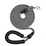 10 FT Heavy Duty Dog Leash with Comfortable Padded Handle Reflective Dog Leashes for Dog Leash for Medium and Large Dogs Walking Training Hiking (Black)