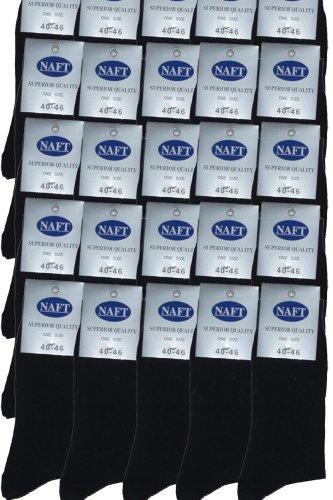 r-dessous 25 Paar Herren Socken schwarz Business Herrensocken Baumwolle ohne Naht Strümpfe Groesse: 43-46