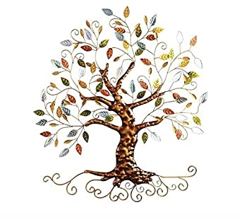Tree of Life - Metal Tree Wall Sculpture Gold Tree Home Decor