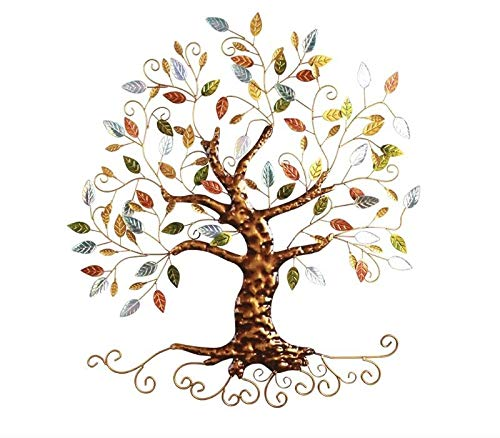 Tree of Life - Metal Tree Wall Sculpture, Gold Tree Home Decor