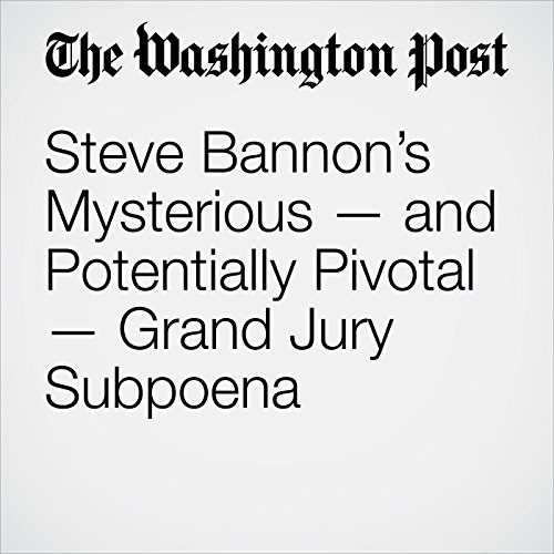 Steve Bannon's Mysterious — and Potentially Pivotal — Grand Jury Subpoena audiobook cover art
