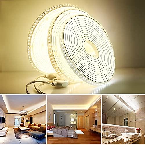 32.8FT/10 M 220 V LED Striscia 2835 Alta Sicurezza Alta Luminosità 120LEDs/m Flessibile LED Luce Esterna Impermeabile LED Striscia Luce