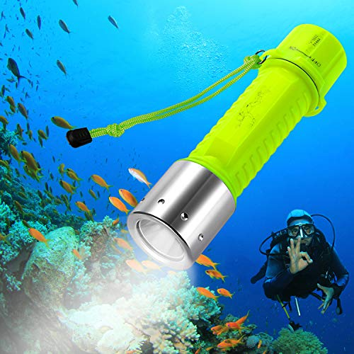 BlueFire Professional 1100 Lumen Diving Flashlight CREE XM-L2 Bright Submarine Light Scuba Safety Lights Waterproof Underwater Torch for Outdoor Under Water Sports