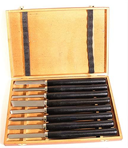 Coltello tornitura hobby set 8 pz legno utensili per tornio girevole scalpelli