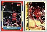 Michael Jordan Chicago Bulls 1986-87 Fleer Rookie RC Pair REPRINT #57 & #8