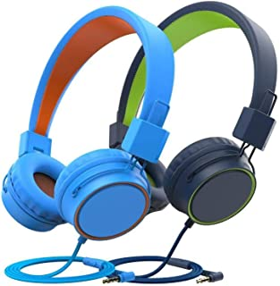 ChenFec Kids Headphones Stereo Foldable Headphones Adjustable Headband Headsets with Microphone 3.5mm for Online Learning ...