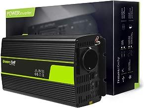 Green Cell® 1000W/2000W Onda sinusoidal modificada Inversor de Corriente Power Inverter DC 12V AC 220V, Transformador de Voltaje para Coche con Puerto USB y Pinzas de conexión a batería