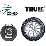 feinglie drige Cadena de nieve Thule 9mm (9719095448) para Volvo S60(2002) con el neumático tamaño 215/55R16en Juego con...