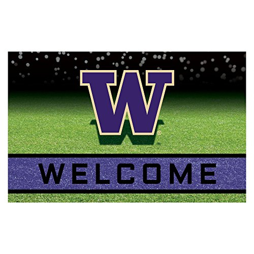 FANMATS 22524 Team Color Crumb Rubber University of Washington Door Mat, 1 Pack, One Size