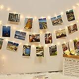 12M 120LED Fotoclips Lichterkette, kolpop USB Lichterkette für Zimmer Deko Fotos Lichterkette Wand mit 60 Klammern Lichterkette Bilder für Wohnzimmer, Weihnachten, Hochzeiten, Party, DIY-Warmweiß