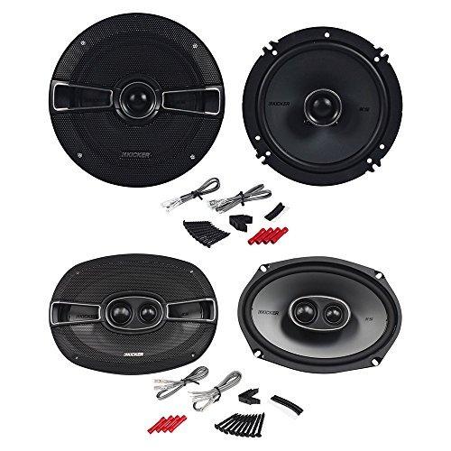"2) Kicker 41KSC6934 6x9"" KS-Series 3-Way Car Speakers+2) 41KSC654 6.5"" Speakers"