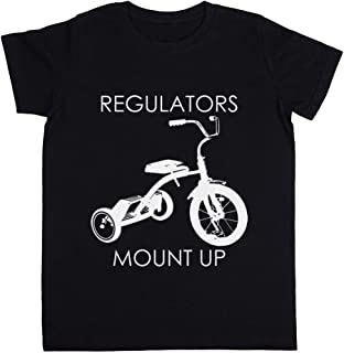Rundi Regulators Mount Up Unisexo Niño Niña Camiseta Negro Todos Los Tamaños - Unisex Kids Boys Girls's T-Shirt Black
