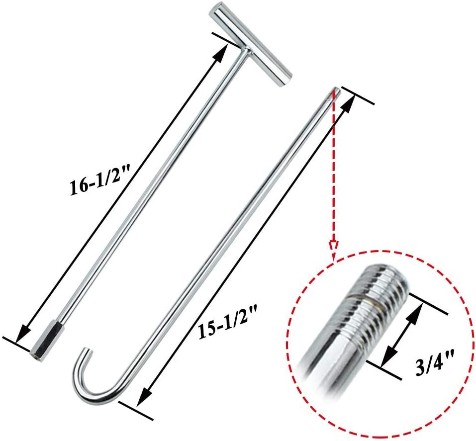 1pack N A SCOTTCHEN PRO 5th Wheel Pin Puller 32 Solid Steel with Chrome Plating Heavy Duty