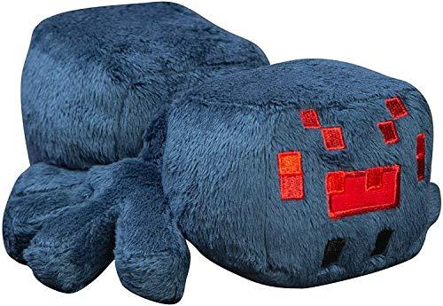 Minecraft Jinx Happy Explorer Cave-Peluche de araña, Color Azul, 17,78 cm, Multicolor, 7 Pulgadas 889343101212