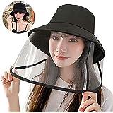 レディース ハット 保護 サンバイザー 日よけ UVカット 対策 フェイスカバー 帽子 折りたたみ つば広 軽量 男女兼用