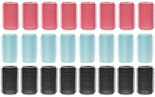 24-tlg Set Haftwickler Locken-Wickler Haar Friseurbedarf (Ø 30 mm)