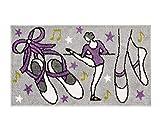 emmevi Alfombra de Juegos Dormitorio de Niños 80x 140cm Suave Shaggy Bordada Parte Trasera Antideslizante 100% Made in Italy Mod.Baby w UV